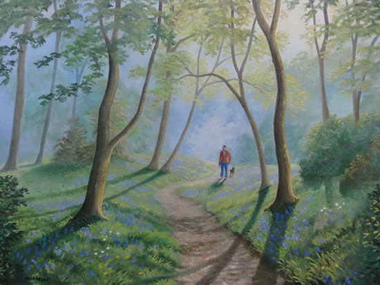 Woodland Walk - Oil Painting